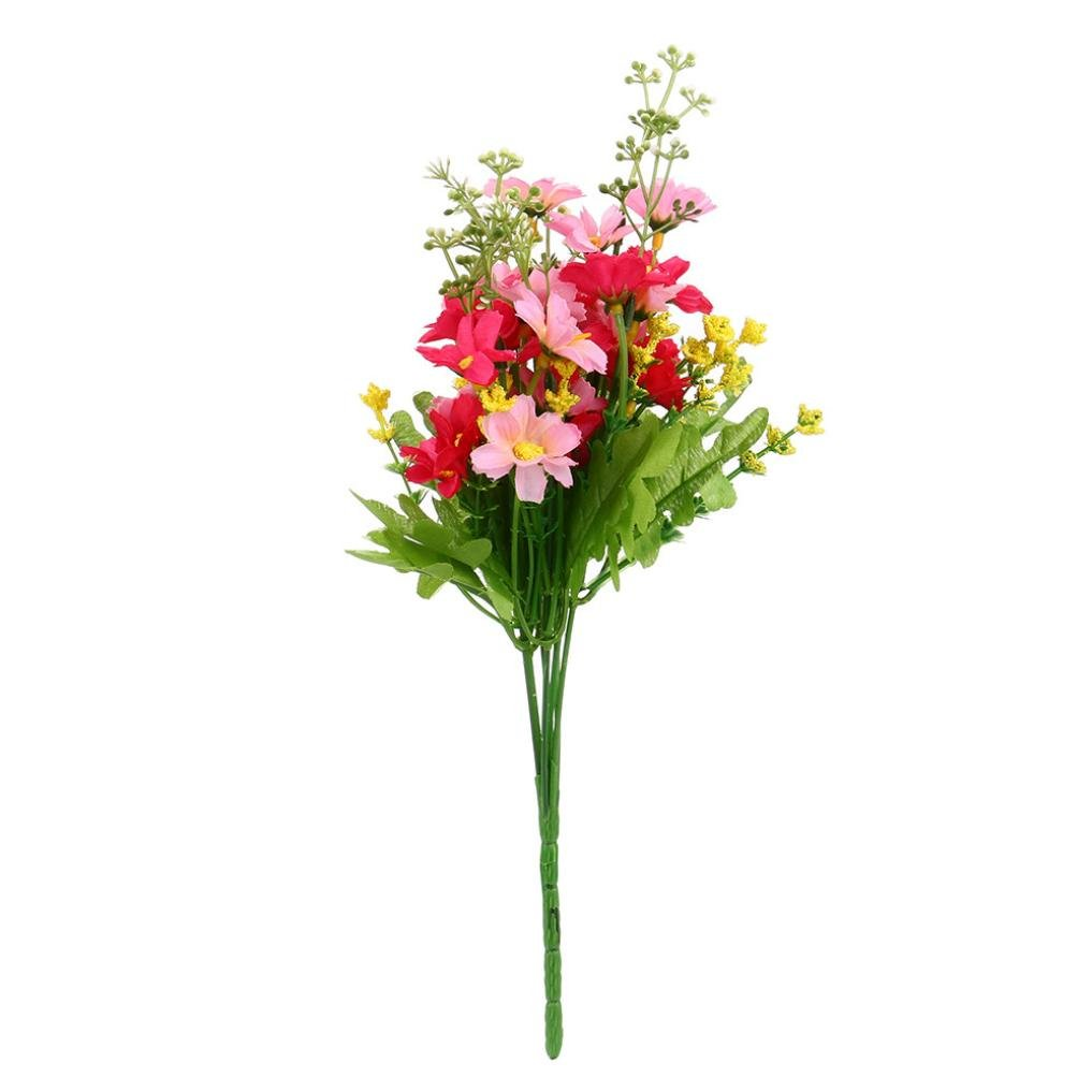 (C) - TiTCool 1 Bunch 28 Heads Artificial Fake Flower Bouquet Home Wedding Party Decoration (C) B07C9GF69S  C