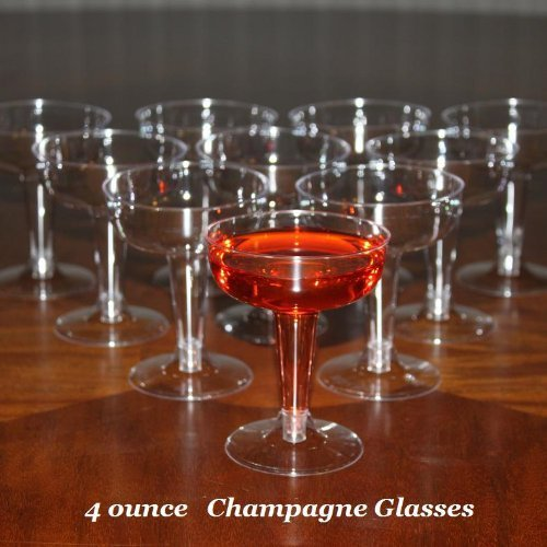 Polar Ice Disposable Plastic Champagne Glasses, 4 Ounce, Box of 200 by Polar Ice