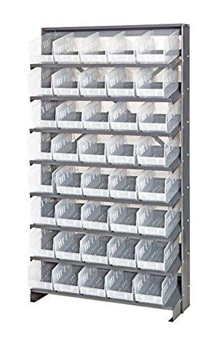 - Quantum QPRS-204CL Single-Sided 40 QSB204CL Clear Bin Storage Pick Rack System 24
