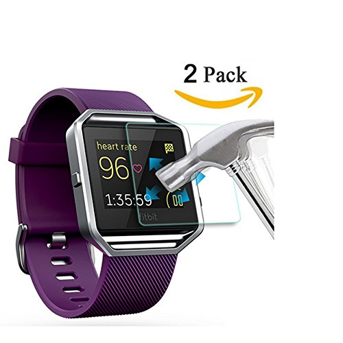 Anti Surge Glass (Fitbit Surge Screen Protector, Fitbit Surge Tempered Glass Screen Protector, (2-Pack) Full Coverage Screen Protector for Fitbit Surge HD Clear Anti-Bubble Film - with)