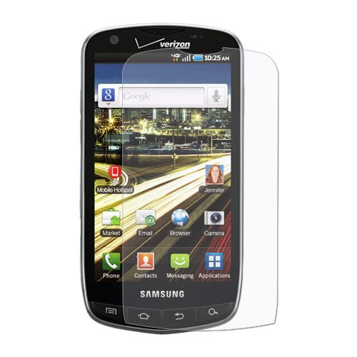 Amzer Anti-Glare Screen Protector with Cleaning Cloth for Samsung DROID Charge SCH-I510 - 1 (I510 Screen Protector)