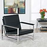 Studio Designs 72005 Bonded Leather Atlas Accent Chair, Black