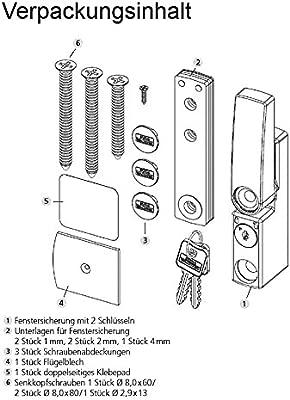 Braun, Burg W/ächter Winsafe WS 11 BR SB Fenstersicherung 1 St/Ã/¼ck 142 x 87 x 52