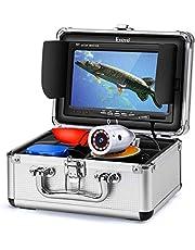 "Eyoyo Underwater Fishing Camera 7 inch Color Screen 1000TVL Waterprood IR Camera for Lake Boat Sea Ice Fishing (7"" 15m)"