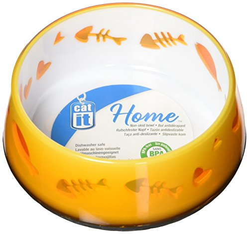Catit Food Dish - Catit Home Non-Skid Pet Bowl, 10.1-Ounce, Orange
