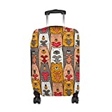 Cute Cartoon Bear Pattern Print Travel Luggage Protector Baggage Suitcase Cover Fits 29-32 Inch Luggage