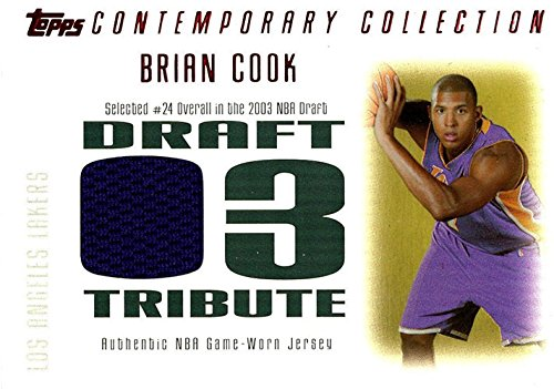 Unsigned Jersey Collection (Signed Cook, Brian (Los Angeles Lakers) Brian Cook 2003-04 Topps Contemporary Collection Unsigned Basketball Jersey Card. #38/50 autographed)