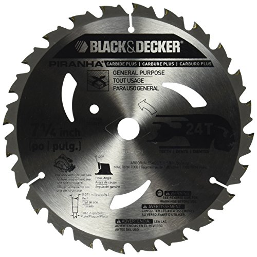 BLACK+DECKER Pr824 24T 7-1/4-Inch Carbide Saw Blade (Black And Decker Professional 10 Miter Saw)