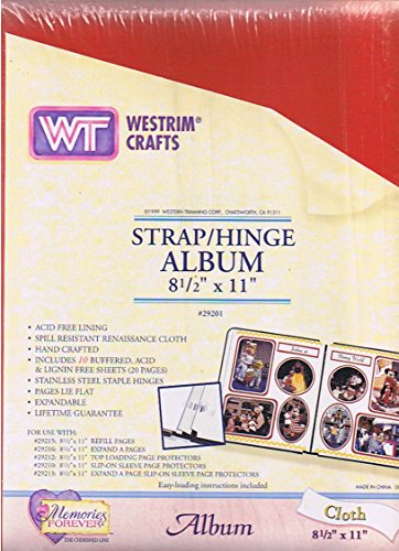 strap-hinge-album-8-1-2-x-11-includes-10-buffered-acid-lignin-free-sheetes-20-pages-expandable