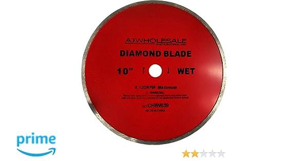 AJ Wholesale CHIW039-WET 10 Diamond Saw Blade
