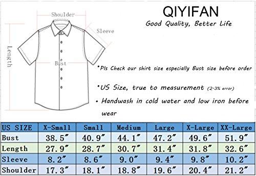 a325dd5a QIYIFAN Men's Hawaiian Shirts Coconut Tree Casual Short Sleeve Button Down Shirt  Blue XL