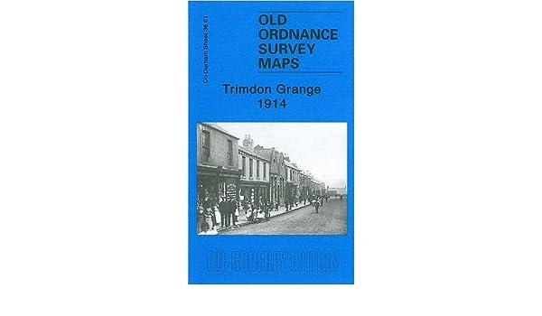 Old Ordnance Survey Map Trimdon Grange Co Durham  1914 Godfrey Edition New