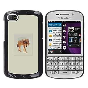 All Phone Most Case / Oferta Especial Duro Teléfono Inteligente PC Cáscara Funda Cubierta de proteccion Caso / Hard Case BlackBerry Q10 // White Wolf Mountain