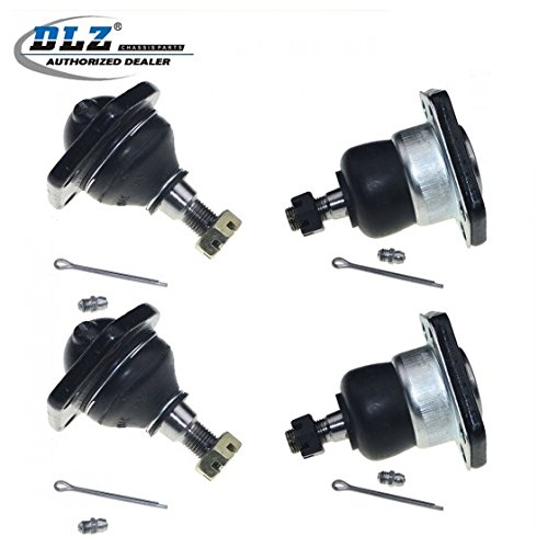 DLZ 4 Pcs Front Kit- Lower Upper Ball Joint Compatible with 1999-2001 Chevrolet Blazer AWD,1997-2005 Chevrolet Blazer 4WD,2004 Chevrolet S10, 1997-2003 Chevrolet S10 Sonoma 4WD,1997-2002 GMC Jimmy 4WD
