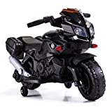 Tobbi 6V Kids Ride On Motorcycle Car Battery Powered 4 Wheel Bicycle Electric Toy Black