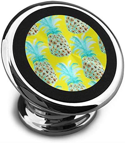穴のあるパイナップル 携帯電話ホルダー おしゃれ 車載ホルダー 人気 磁気ホルダー 大きな吸引力 サポートフレーム 落下防止 360度回転