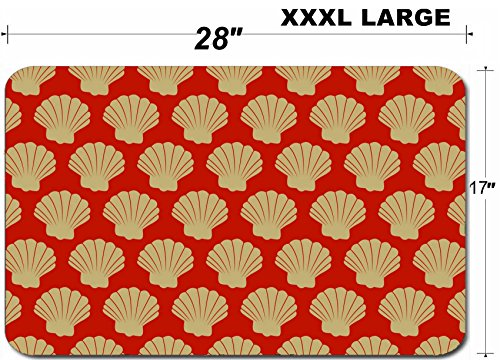 (Liili Large Table Mat Non-Slip Natural Rubber Desk Pads IMAGE ID: 3341409 abstract repeating pattern scallop shell wallpaper background design)
