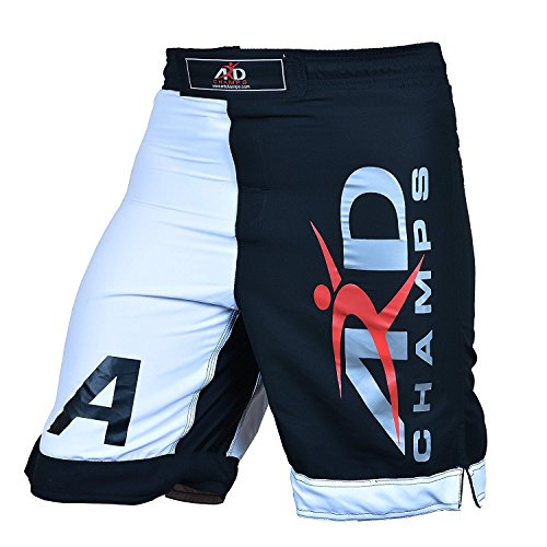 ARD Pro MMA Fight Shorts UFC Cage Fight Grappling Muay Thai Boxing Black XS-3XL (XS(28-30