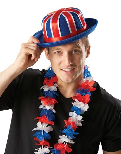 Simply Fancy Dress Rule Britannia Union Jack Bowler Hat ()