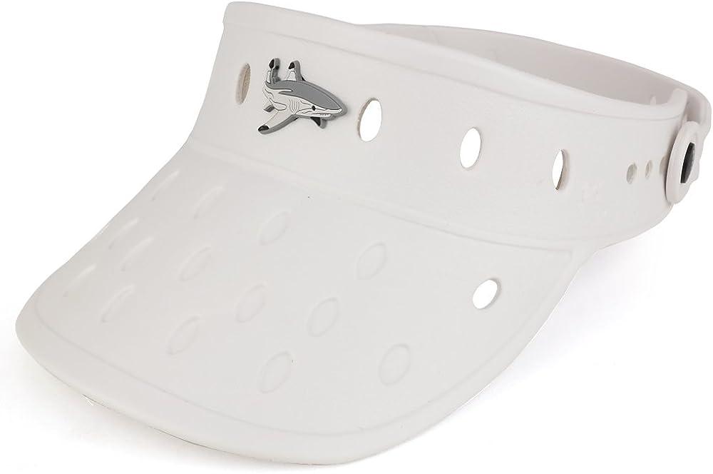 Trendy Apparel Shop Durable Adjustable Floatable Summer Visor Hat with Shark Snap Charm