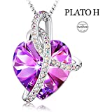 ZJchao 30mm Blue Real Rose Necklace Real Rose...