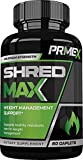 Cheap PRIME X SHRED MAX – Weight Management Support – Metabolic Enhancement Supplement- Fat Burner – Appetite Suppressant- 60 Caplets