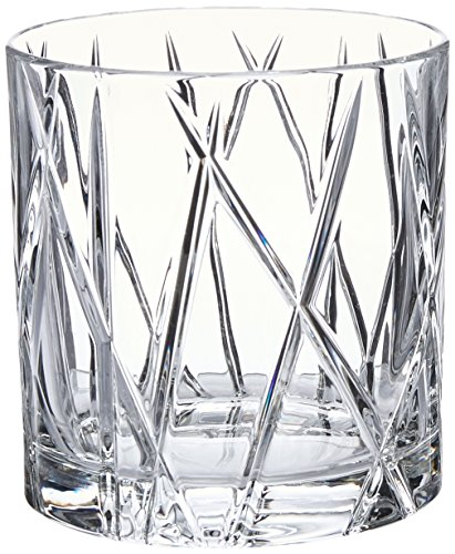 Orrefors City 10.9 Ounce Double Old Fashioned Glass, Set of 4