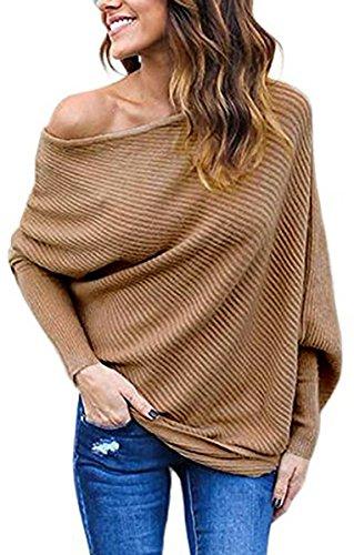 BLINGLAND Womens Shoulder Pullover Sweater