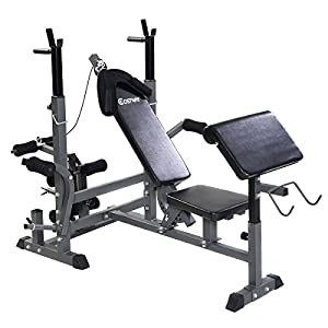 Goplus Adjustable Weight Lifting Flat Incline Bench Fitness Strength Exercise