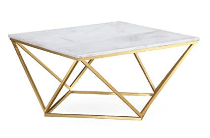 Amazoncom Tov Furniture The Leopold Collection Modern Style Marble