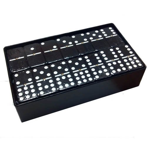 Domino Double 9 Black Extra Jumbo Tournament Size
