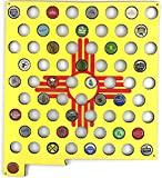 New Mexico Flag Beer Cap Map - Glossy Craft Beer
