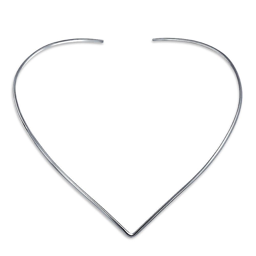 Basic Simple Slider Choker V Shape Collar Statement Necklace For Women 925 Silver Sterling Add Your Pendant by Bling Jewelry