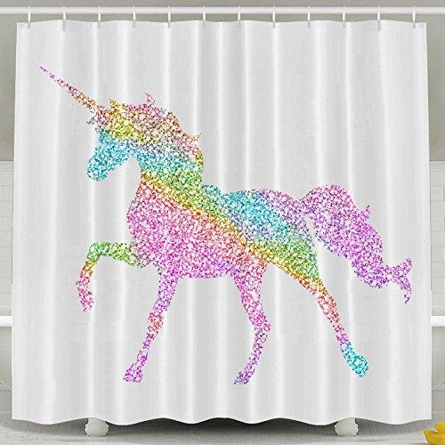 Li2u Id Rainbow Unicorn Shower Curtain With 60 X 72 Inches Waterproof Bathroom Decor