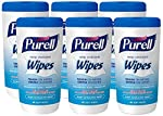 Purell Hand Sanitizing Wipes - Clean Refreshing Scent, Non-Alcohol Wipes, 40 Count Canisters, 6 Pack