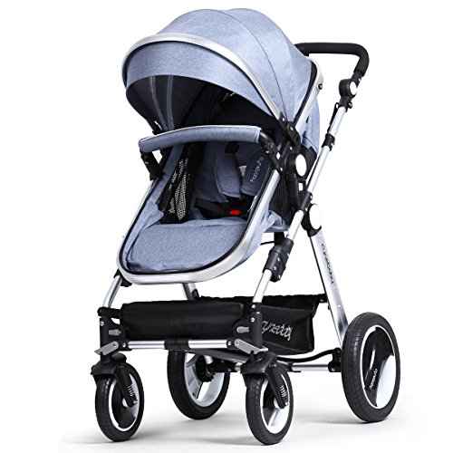 Infant Baby Stroller Toddler Carriage - Cynebaby Folding Pram Bassinet Strollers with Cup Holder (blue) by cynebaby (Image #3)