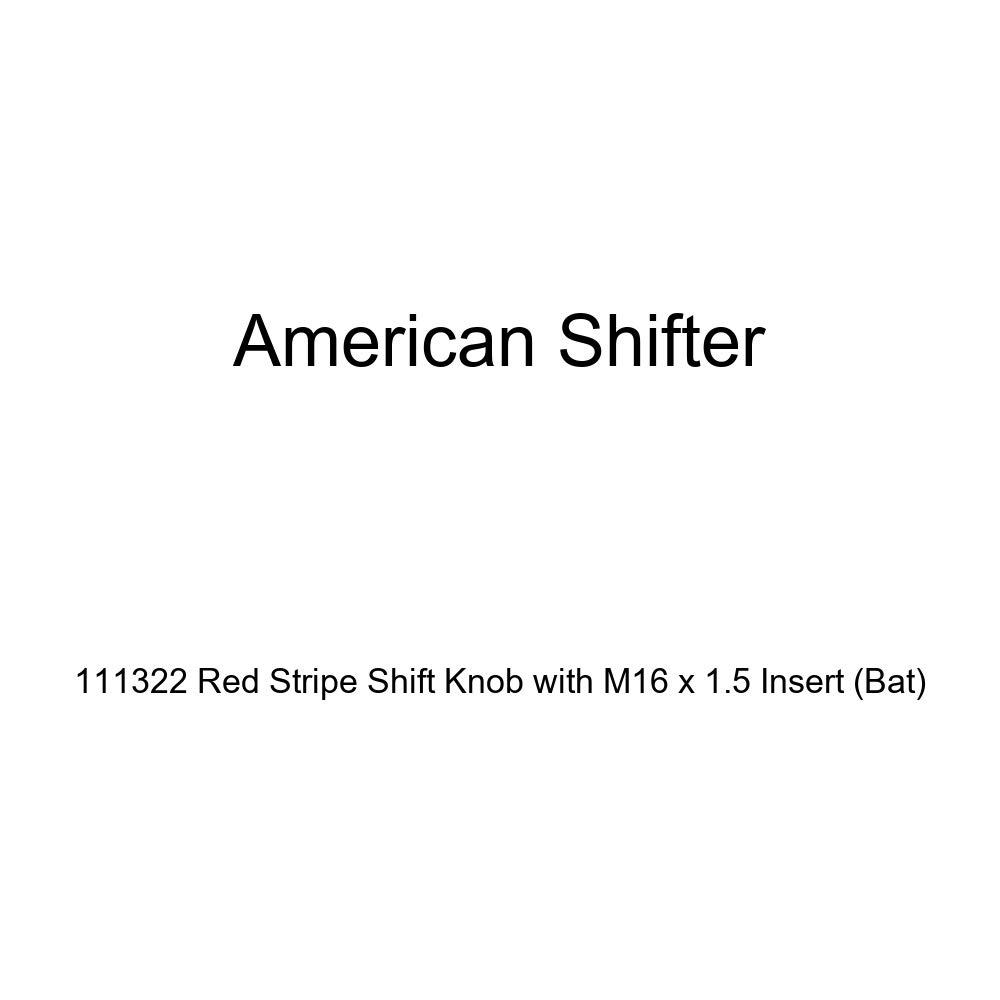 Bat American Shifter 111322 Red Stripe Shift Knob with M16 x 1.5 Insert