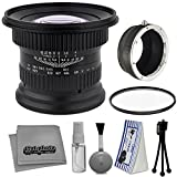 Opteka 15mm f/4 LD UNC AL 1:1 Macro Wide Angle Manual Full Frame Lens + UV for Fuji X-Pro2, X-Pro1, X-T10, X-E2S, X-T1, X-E2, X-E1, X-M1, X-A2, and X-A1 FX Digital Cameras (EOS-X) + Cleaning Kit