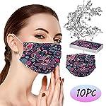 RUITOTP-10203050100pc-Frauen-Mnner-Gesicht-Schutz-Einweg-Universal-3Ply-niedlich-Print-Ohr-Schleife-atmungsaktive-Schal-Bandanas