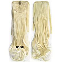 22inch 80g Clip In Pony Tail Hair Extension Wrap Around Ponytail Hair Extension Piece all kinds of color (613#)