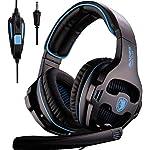 2018-Novit-SADES-SA810-Cuffie-da-gioco-Cuffie-stereo-over-ear-Cuffie-da-gioco-bass-con-isolamento-acustico-Microfono-Controllo-volume-per-Xbox-One-PS4-PC-Laptop-Mac-Mobilesupporto-non-incluso