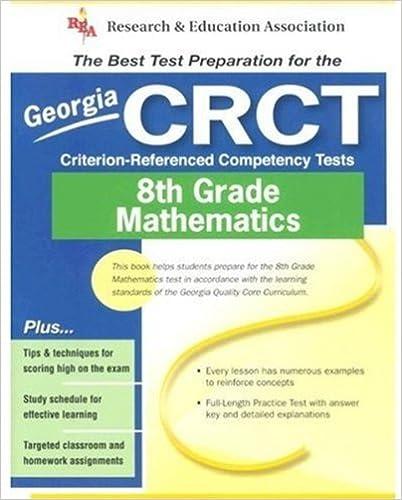 Georgia CRCT Grade 8 Math REA The Best Test
