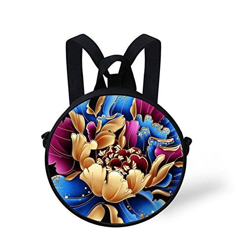 FancyPrint and Bag Casual Shoulder Women Dfgc0096i Fashion Bag Round Women Girls nPwgYrnI