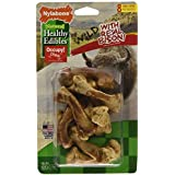 Nylabone 8 Count Healthy Edibles Wild Bison Dog Treat Bones, Small