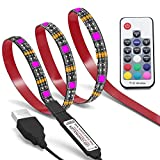 Bias Lighting, Colohas TV Backlight for 45~70 inches HDTV,LED Strip Lights with FR Remote, RGB LED Strip Home Multi Color RGB LED TV Lighting for Flat Screen TV, PC, Neon Sign Decoration (3M)