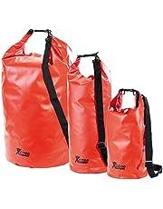 Xcase Wasser Sport-Sack: Urlauber-Set wasserdichte Packsäcke 16/25/70 Liter, rot (Aufbewahrungstasche)