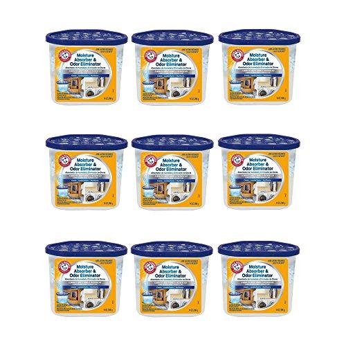 Arm & Hammer FGAH14 14 Moisture Absorber & Max Odor Eliminator Tub, 14 oz (9 pack) ()