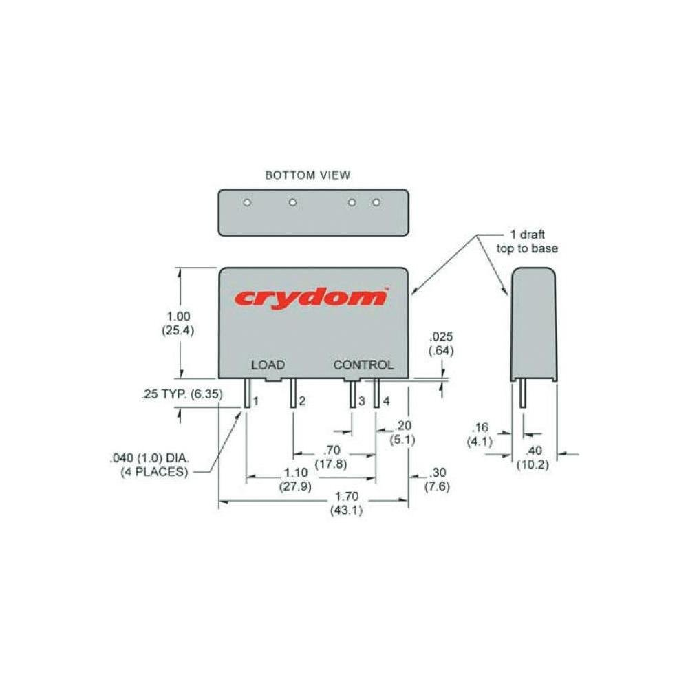 Solid State Relay Mpdcd3 Electronics Crydom Ssr Wiring Diagram