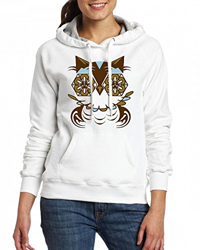 A stylized owl in Romanesque style Womens Hoodie Fleece Custom Sweartshirts