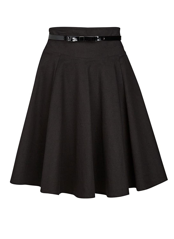 Joanie Clothing 'Carolina' High-waist Black Skirt